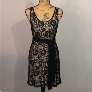 Express Black and Beige Lace Dress size small
